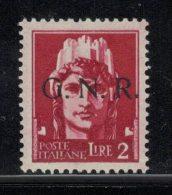 Italia RSI 1943 – GNR Brescia 2 L. – MNH XF ** – Firmato Vignati E Terrachini – Rif. 1505015 - 4. 1944-45 Repubblica Sociale