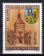 ÖSTERREICH 1984 **  Uhr, Clock - Stadtturm Vöcklabruck, Wappen - MNH - Uhrmacherei