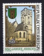 ÖSTERREICH 1987 ** Wehrturm - Uhr, Clock - MNH - Uhrmacherei