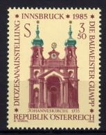 ÖSTERREICH 1985 **  Uhr, Clock - Johanneskirche In Innsbruck - MNH - Uhrmacherei
