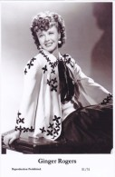 GINGER ROGERS - Film Star Pin Up - Publisher Swiftsure Postcards 2000 - Postales