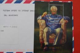 LETTRE LETTER->AFRIQUE DU SUD/SOUTH AFRICA AFF. BLOC BLOCK HAPPY BIRTHAY 90TH MADIBA NELSON MANDELA INTERNATION AIR MAIL - Afrique Du Sud (1961-...)
