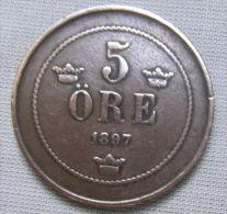 SWEDEN 1897 - 5 ORE - Sweden