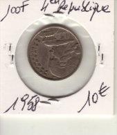 100 FRANCS 4em REPUBLIQUE  1958 - Frankreich