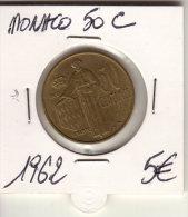 MONACO 50 CENTIMES 1962 - Monaco