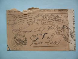 Douala-fort Lamy 8.12.42 -censure Et Franchise Militaire - A.E.F. (1936-1958)