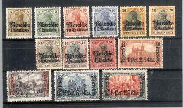 Deutsche Post In Maroko Mi#21-33 * Falz Satz - Bureau: Maroc