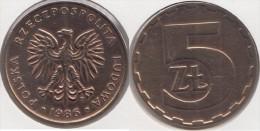 Polonia 5 Zlotych 1986 Km#81.2 - Used - Polonia