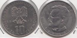 Polonia 10 Złotych 1977 Boleslaw Prus Km#73 - Used - Polonia
