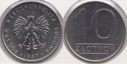 Polonia 10 Zlotych 1987 Km#152.1 - Used - Polonia