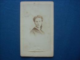 Photo CDV J. Tourtin Ainé à Paris - Portrait Nuage Jeune Femme L204 - Old (before 1900)