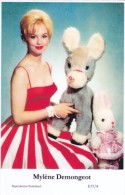 MYLENE DEMONGEOT - Film Star Pin Up - Publisher Swiftsure Postcards 2000 - Postales