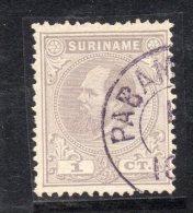 W3085 - SURINAME 1873 , 1 Cent N. 1 Usato - Suriname ... - 1975
