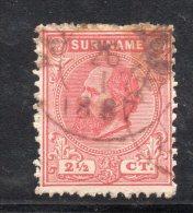 W3087 - SURINAME 1873 , 2 1/2 Cent N. 3A Usato - Suriname ... - 1975