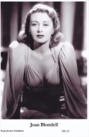 JOAN BLONDELL- Film Star Pin Up - Publisher Swiftsure Postcards 2000 - Postales