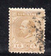 W3089 - SURINAME 1873 , 10 Cent N. 6 Usato - Suriname ... - 1975