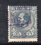 W3092 - SURINAME 1873 , 12 1/2 Cent N. 7  Usato - Suriname ... - 1975