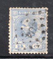 W3093 - SURINAME 1873 , 25 Cent N. 10  Usato - Suriname ... - 1975