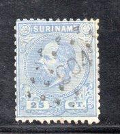 W3094 - SURINAME 1873 , 25 Cent N. 10  Usato - Suriname ... - 1975