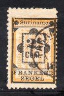 W3096 - SURINAME 1892 , 2 Cent N. 22  Usato - Suriname ... - 1975