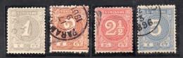 W3097 - SURINAME 1890 , Serietta Cifra N. 17/21 Priva Del Solo N. 20 - Suriname ... - 1975