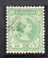 W3102 - SURINAME 1893 , 20 Cent N. 26 Usato - Suriname ... - 1975