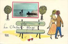 Charente Maritime -ref G19- Dessin Illustrateur Claude Verrier - Le Clapet Plage - Carte Bon Etat  - - Autres Communes
