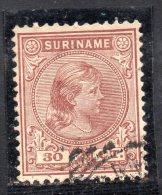 W3103 - SURINAME 1893 , 30 Cent N. 28 Usato - Suriname ... - 1975