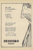 # DEODORO MANETTI & ROBERTS Florence 1950s Advert Pubblicità Publicitè Reklame Firenze Deodorant Desodorant Cosmetics - Unclassified