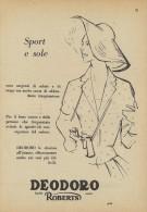 # DEODORO MANETTI & ROBERTS Florence 1950s Advert Pubblicità Publicitè Reklame Firenze Deodorant Desodorant Cosmetics - Ohne Zuordnung