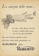 # HAMAMELIS MANETTI & ROBERTS Florence 1950s Advert Pubblicità Publicitè Reklame Firenze Jelly Hand Cream Cosmetics - Unclassified