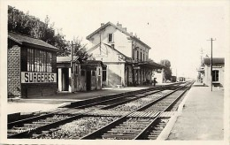 Charente Maritime -ref G14- Surgeres - La Gare Ligne De Chemin De Fer -theme Gares - Carte Bon Etat - - Surgères