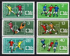 BULGARIEN 1974 ** Fussball WM Deutschland - MiNr.2326-2331 Kompletter Satz MNH - Coppa Del Mondo