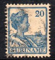 W3108 - SURINAME 1922 ,  N. 95  Usato - Suriname ... - 1975