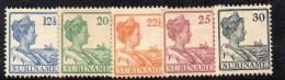 W3109 - SURINAME 1922 ,  5 Valori * Mint - Suriname ... - 1975