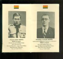 Doodsprentje ( X 12 ) Politiek Gevangene Gebroeders AERTS - Oorlog Guerre Gross - Rozen Offenburg - Herenthals Herentals - Overlijden