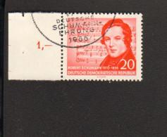 DDR Robert Schumann 100.Todestag Mi.Nr. 529 Wz. 2XI Gestempelt Geprüft Paul BPP 2 Bilder - Gebraucht