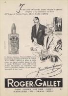 # ROGER & GALLET JEAN MARIE FARINA EAU DE COLOGNE 1950s Advert Pubblicità Publicitè Reklame Perfume Profumo Cosmetics - Perfume & Beauty