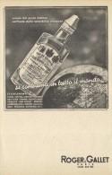 # ROGER & GALLET JEAN MARIE FARINA EAU DE COLOGNE 1950s Advert Pubblicità Publicitè Reklame Perfume Profumo Cosmetics - Sin Clasificación
