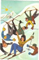 Fantaisie - Cpsm - Les Joies Du Ski - Sports D'hiver