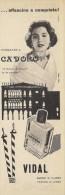 # COLONIA CA' D'ORO  VIDAL VENEZIA 1950s Advert Pubblicità Publicitè Reklame Perfume Parfum Profumo Cologne Stork Venice - Perfume & Beauty