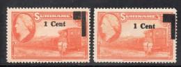 W3114 - SURINAME 1950 , N. 275 * Mint : Due Soprastampe Diverse - Suriname ... - 1975