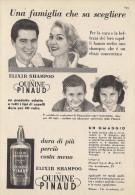 # PINAUD QUININE ELIXIR SHAMPOO 1950s Advert Pubblicità Publicitè Reklame Cosmetics Protector Beautè - Parfums & Beauté