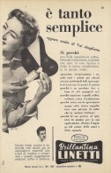 # BRILLANTINA LINETTI, ITALY 1950s Advert Pubblicità Publicitè Reklame Hair Fixer Fixateur Cheveux Fijador Haar - Perfume & Beauty