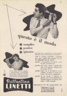 # BRILLANTINA LINETTI, ITALY 1950s Advert Pubblicità Publicitè Reklame Hair Fixer Fixateur Cheveux Fijador Haar - Non Classificati