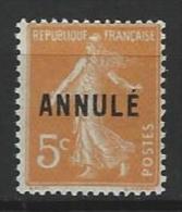 """FR Instruction YT 158-CI 1 """" Semeuse Camée 5c. Orange """" Neuf** - Instructional Courses"""