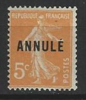 """FR Instruction YT 158-CI 1 """" Semeuse Camée 5c. Orange """" Neuf* - Instructional Courses"""
