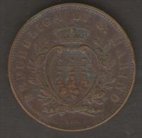 SAN MARINO 10 CENTESIMI 1894 - San Marino