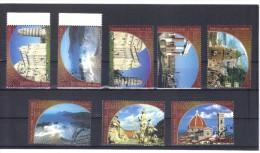 KPÖ465 UNO GENF 2002 UNESCO-WELTERBE ITALIEN MICHL 448/49 +  450/55 Used / Gestempelt - Genf - Büro Der Vereinten Nationen