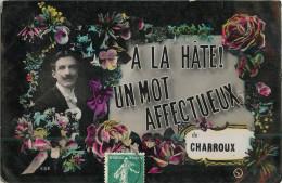 03 - Charroux -  ** Mot Affectueux ** - Allier - Voir Scans - France